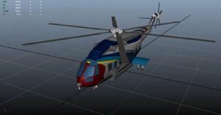 AC313民用直升机maya模型