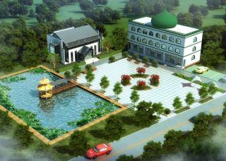 回民建筑,办公区设计,无绿植