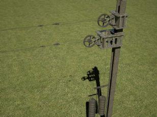 铁路接触网拉线器,有动画,有材质