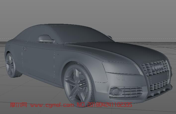 奥迪S5模型,c4d模型