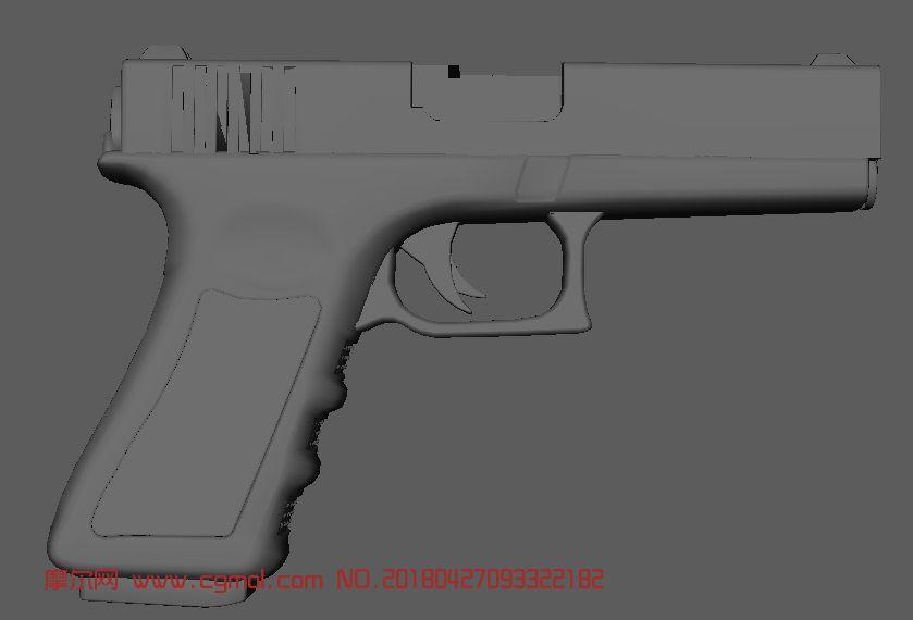 maya手枪模型源文件
