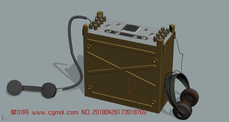 老式通讯兵设备,无线电设备