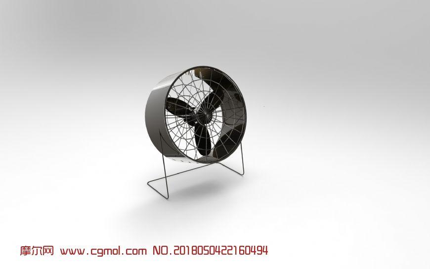 小风扇C4D模型