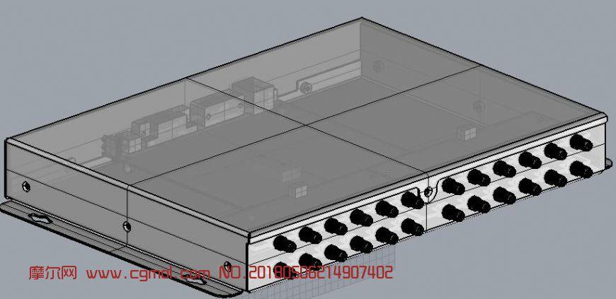 监控主机,集线器模型,stp,3dm格式