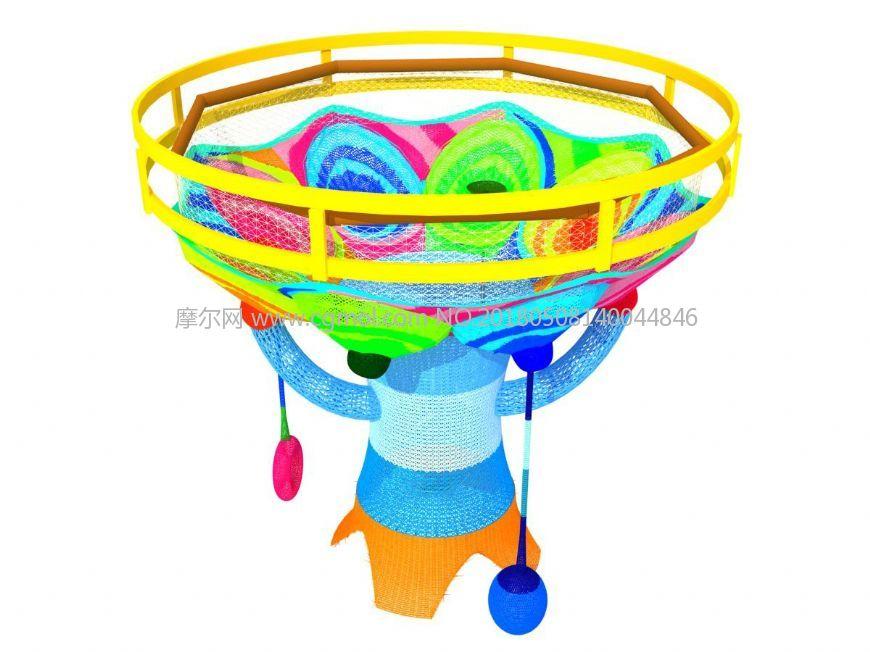 室内模型 整体效果  标签:彩虹树彩虹网儿童乐园游乐设备游乐室内儿童