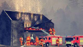 消防灭火演习场景max模型