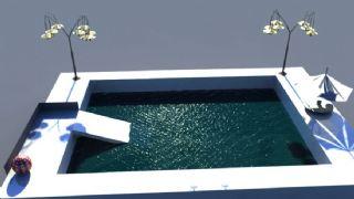 maya游泳池模型