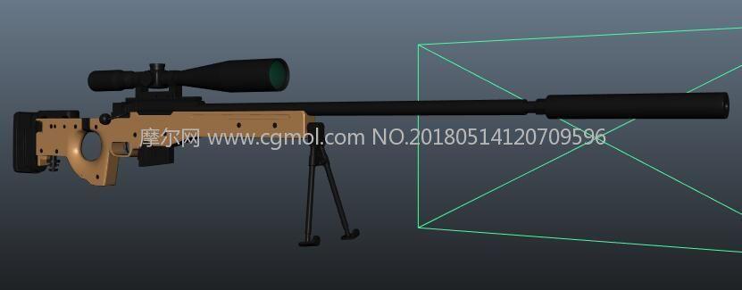 awm狙击枪maya模型