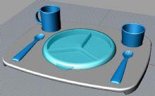 儿童组合餐具设计