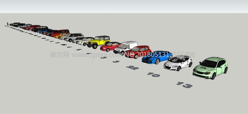多年收藏的跑车模型