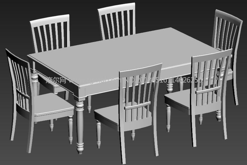 max餐桌模型