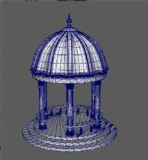 欧式穹顶亭子maya模型