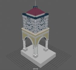 maya钟楼模型