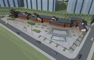 黃家河古建文化廣場中式民居方案