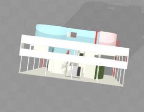 柯布西耶的萨萨伏伊别墅obj模型