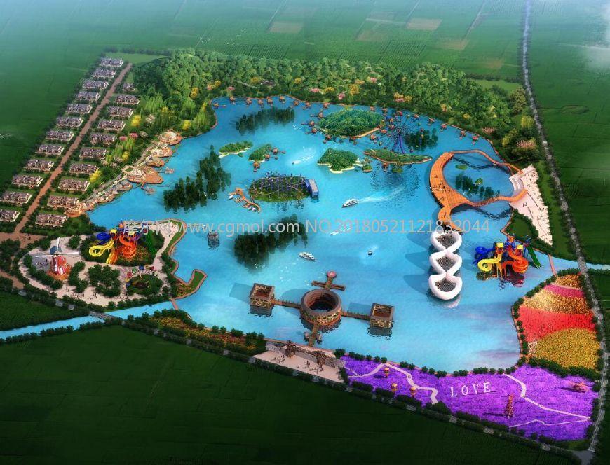 水上游乐场,无绿植及周边小区,无港口