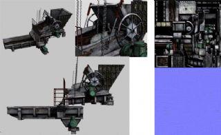 双闸门给料机,煤仓设备,转载机max模型