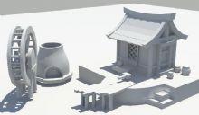 maya古代小房子模型