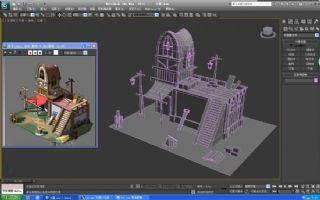 伐木小屋max模型