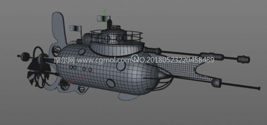 C4D卡通科幻飞船模型