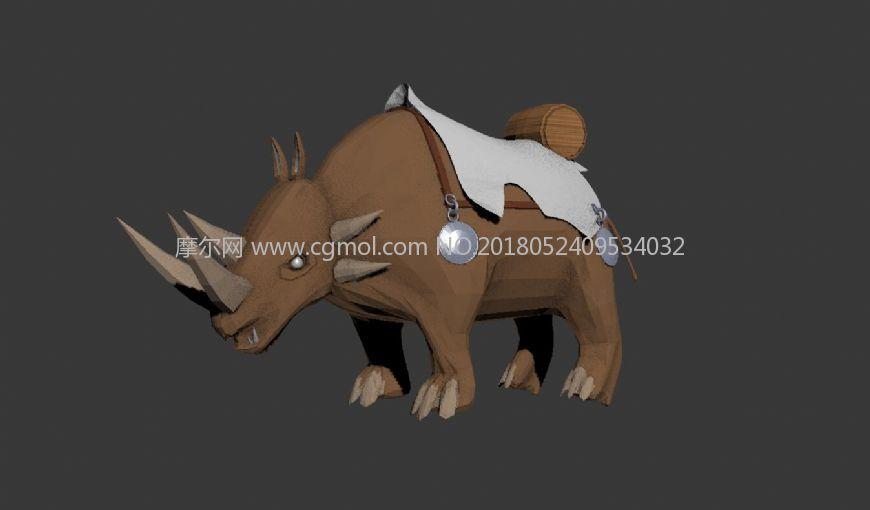 犀牛坐骑Max模型