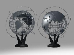 地球仪摆件max2014模型