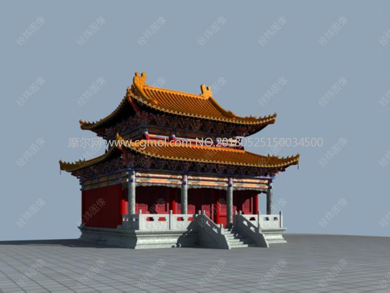 单檐中式大殿