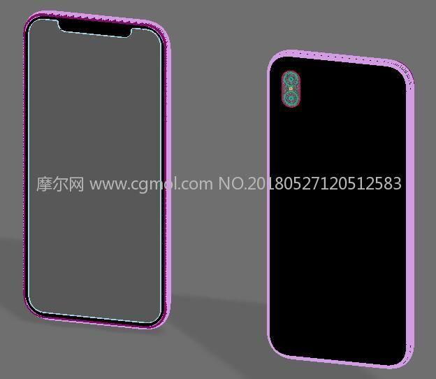 iPhone X齐刘海手机max模型