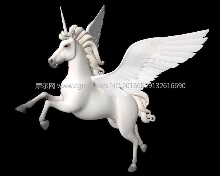 飞马,独角兽FBX模型