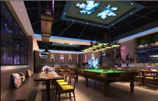 台球室+餐厅整体,包厢
