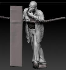拳击手教练zbrush模型,围观群众(网盘下载)