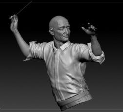 音乐指挥者zbrush模型(网盘下载)