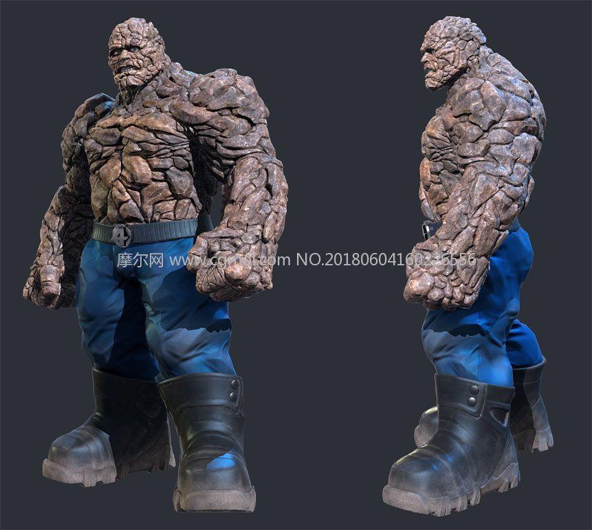 神奇四侠中的石头人FBX格式模型