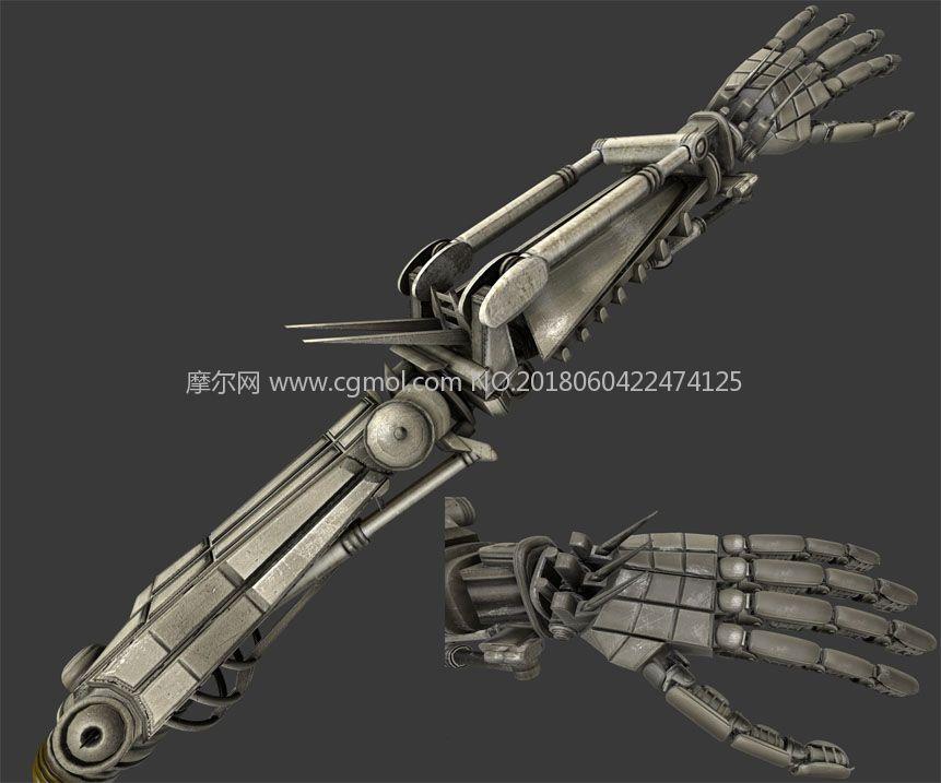 机械化类人手臂,obj,fbx,3ds,dae,x3d,blend等多种格式