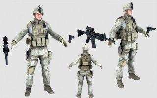 美国大兵,步兵,特种兵max,fbx双格式模型(网盘下载)