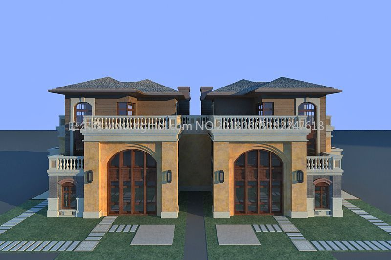 高档别墅单体模型