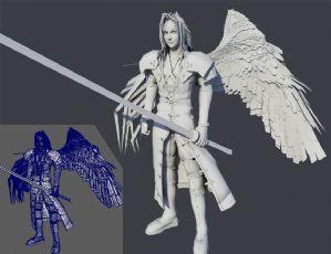 半��翅膀的�_�_菲斯maya模型