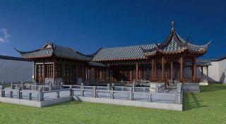 中式独栋建筑小院