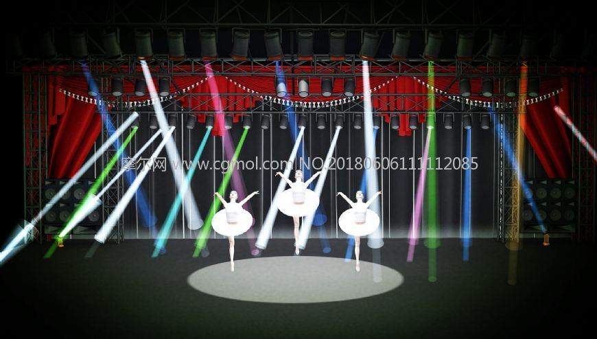 芭蕾舞,舞台灯光