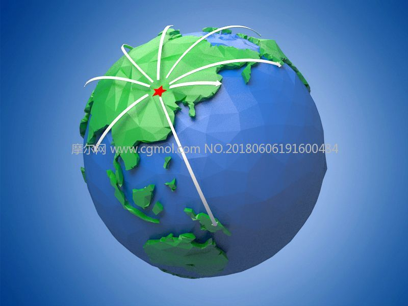 卡通地球,折纸地球,大陆板块