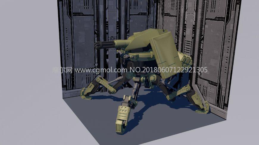 蛛型机器人,四足战争机器