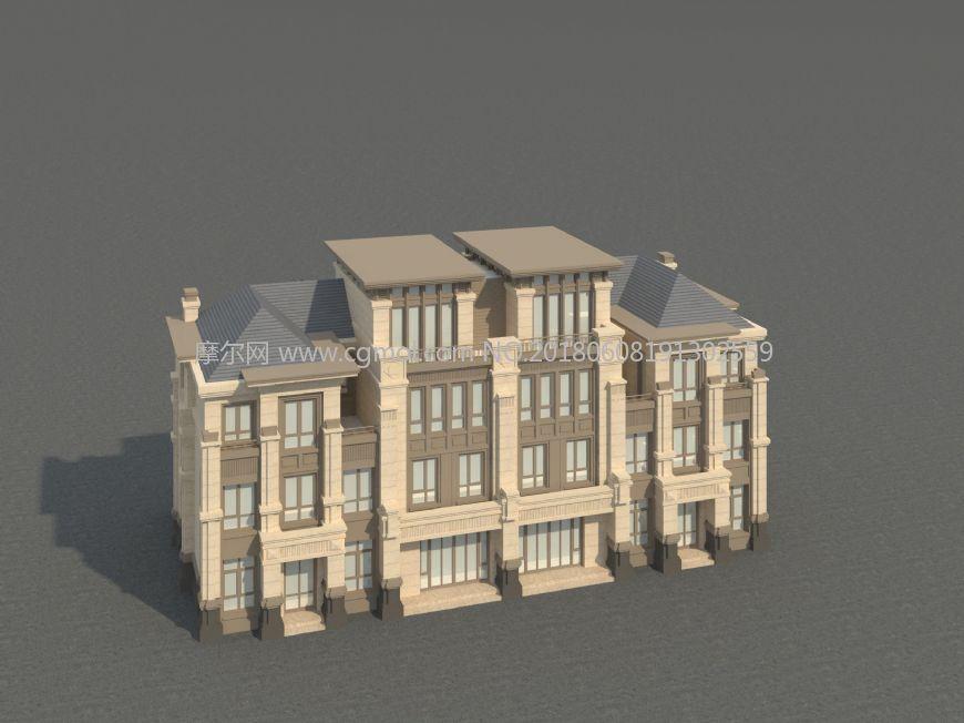 法式古典建筑别墅