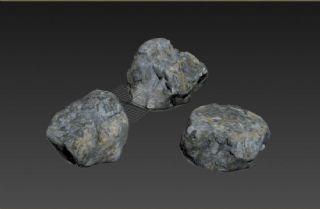 游戏里的石头,石块模型