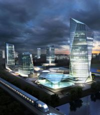 商业区CBD建筑规划设计(网盘下载)