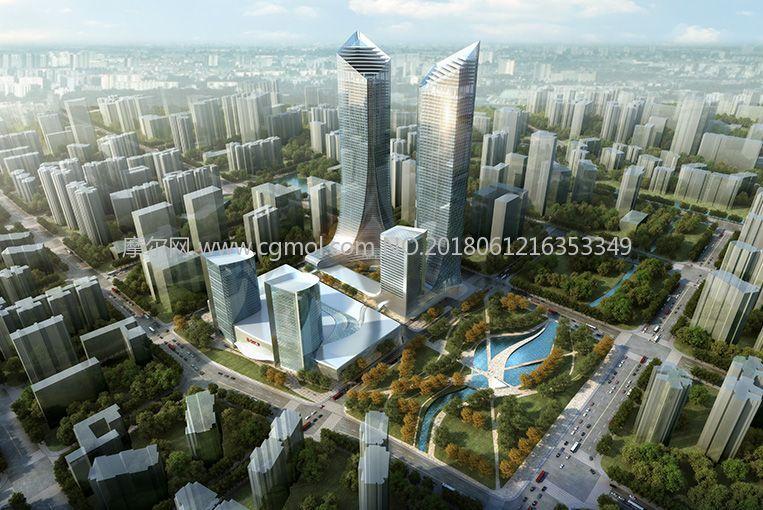 城区地标建筑规划设计(网盘下载)