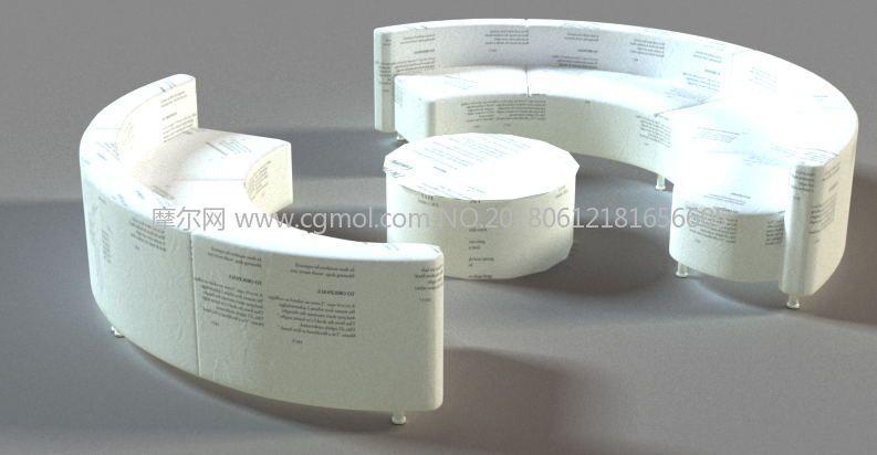 纸糊的沙发max模型