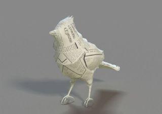 折纸鸟,纸做的鸟max模型
