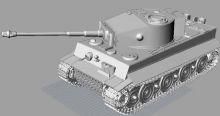 二战德军虎式坦克模型