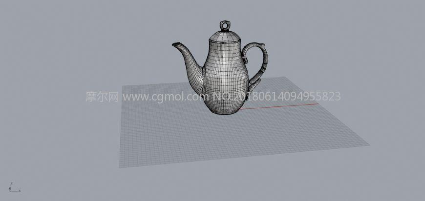 中世纪茶壶-犀牛建模