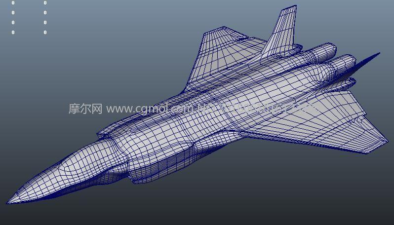 歼20飞机maya模型
